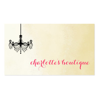 Modern Chandelier Business Cards