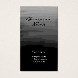 Modern Charcoal Black Business Card