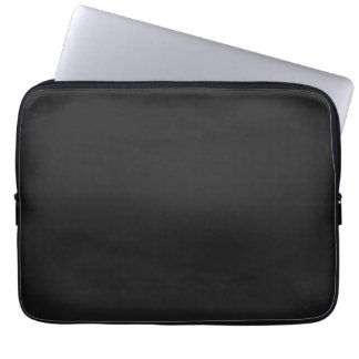Modern Charcoal Black Customizable 13 Inch Computer Sleeves