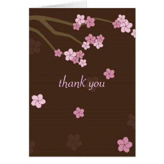 Modern Cherry Blossoms Thank You Card