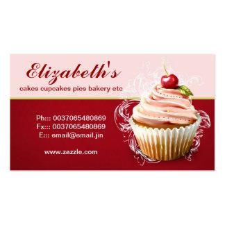 modern cherry cupcake business card standard business cards