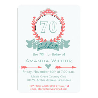 Shop Zazzle's selection of 70th birthday invitations for your party!