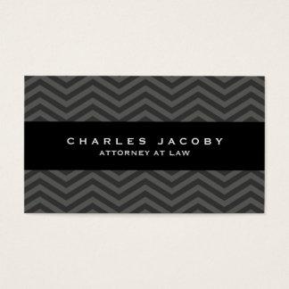 Modern Chevron Professional Male Business Card