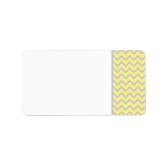 Modern Chevron Yellow/Grey Wedding Mailing Label Address Label