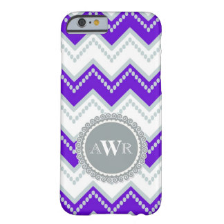 Modern Chevron Zig Zag Monogrammed  Stripe Oval Barely There iPhone 6 Case
