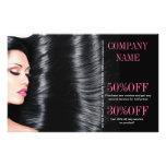 modern chic  beauty salon Hair Stylist Personalised Flyer