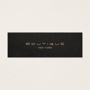 Linen business cards business card printing zazzle modern chic black linen professional mini business card reheart Gallery