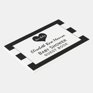 Modern Chic Black & White Baby Shower Guest Book