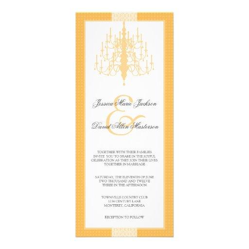Modern Chic Chandelier Wedding Invitation