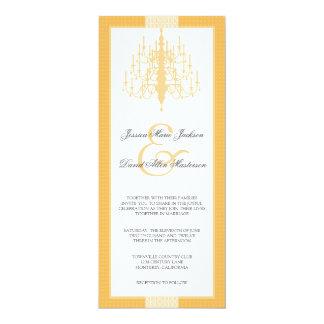 "Modern Chic Chandelier Wedding Invitation 4"" X 9.25"" Invitation Card"
