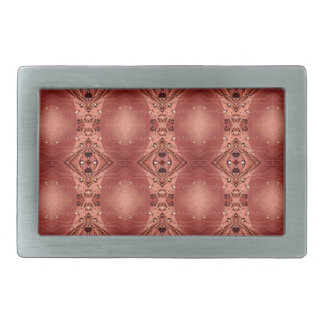 Modern Chic Dusty Rose Peach Patterns Shapes Rectangular Belt Buckles