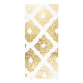 Modern chic faux gold leaf ikat pattern custom rack card