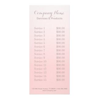 modern chic girly beauty salon fashion blush pink rack card template
