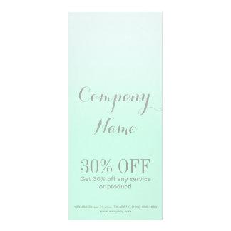 modern chic girly beauty salon fashion mint green rack card