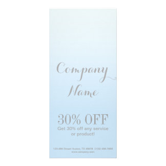 modern chic girly beauty salon fashion powder blue rack card design