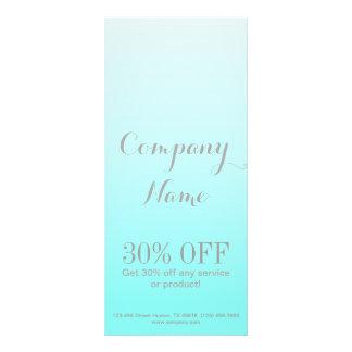 modern chic girly beauty salon fashion Turquoise Custom Rack Cards