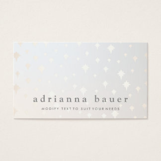 Modern Chic Gold Star Pattern Gray Business Card