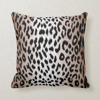 Modern Chic Gradient Cheetah Leopard Print Cushion