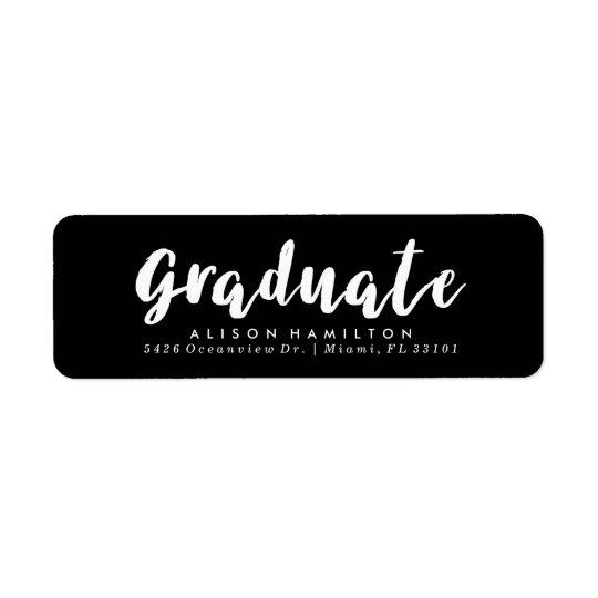 Modern Chic Graduation Address Labels