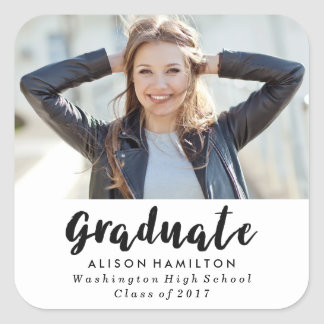 Modern Chic Graduation Photo Stickers