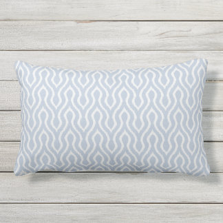 Modern chic grey blue chevron ikat pillow