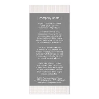 Modern Chic Grey Business Rack Card