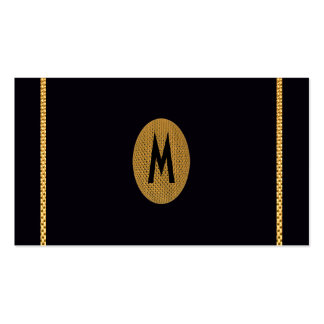 Modern Chic Initial Save the Date Gold Elegant Pack Of Standard Business Cards