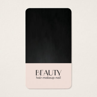 Modern Chic Pale Pink Texture Black Beauty Hair Business Card
