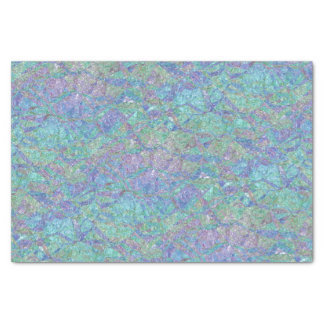 """Modern Chic Pastel Colors Marble Mosaic Pattern 10"""" X 15"""" Tissue Paper"""