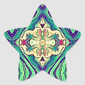 Modern Chic Pastel Pattern Star Sticker