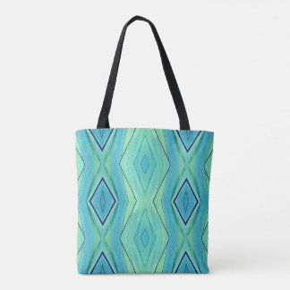 Modern Chic Pastel Teal Yellow Blue Spring Summer Tote Bag