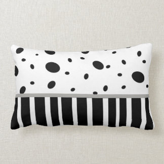 modern chic pillow black and white dots stripes