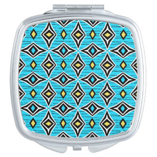 Modern chic tribal aztec design mirrors for makeup