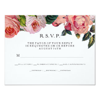 MODERN Chic Wide Stripes w Roses, Mint Green 11 Cm X 14 Cm Invitation Card
