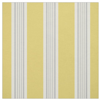 Modern chic yellow and grey stripes fabric