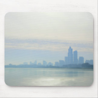 Modern Chicago Lakefront Trail Mouse Pad