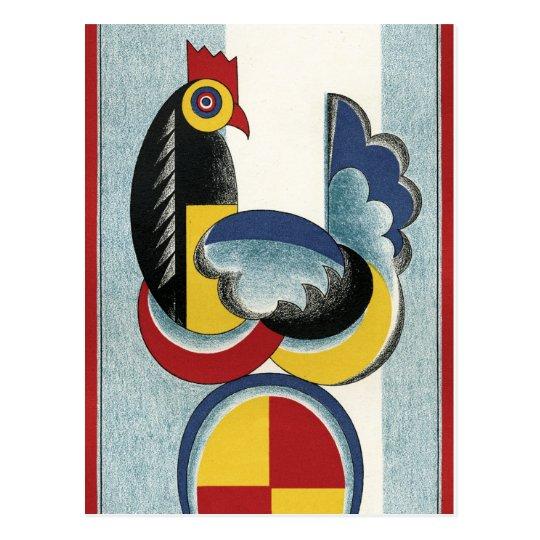 Modern Chicken and Egg Postcard