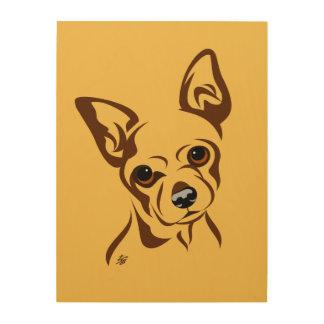 Modern Chihuahua Art Wood Print