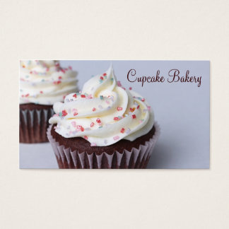 Modern Chocolate Cupcakes Sprinkle Frosting Business Card