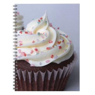 Modern Chocolate Cupcakes Sprinkle Frosting Notebook
