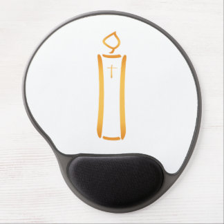 Modern Christian Candle Gel Mouse Pad