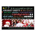 Modern Christmas Holiday Subway Art Photo Card Personalized Invitation