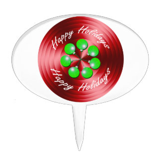 Modern Christmas Holidays Spin Cake Pick