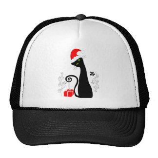 Modern Christmas Kitty Trucker Hats