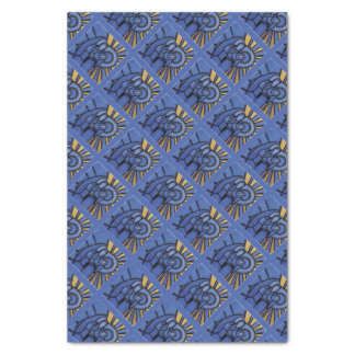 Modern Christmas Nativity Jesus Mary Joseph Blue Tissue Paper