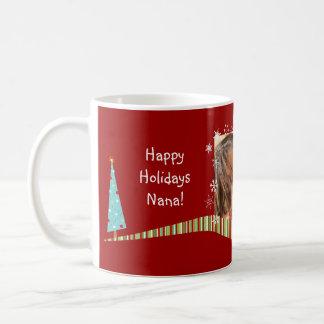 Modern Christmas Personalized Photo Mug