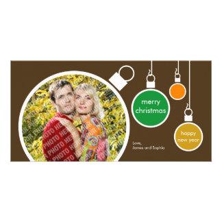 Modern Christmas Photo Card- Chocolate Brown