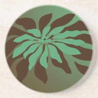 Modern Christmas Poinsettia Coaster