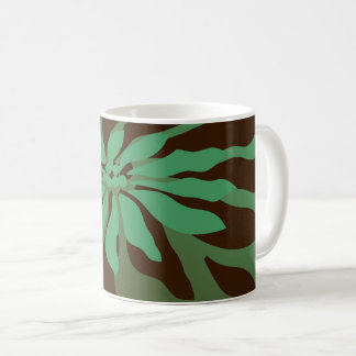 Modern Christmas Poinsettia Coffee Mug