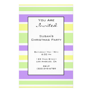 Modern Christmas Stripes Personalized Flyer